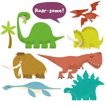 Dinosaur Clip Art / Prehistoric Animals