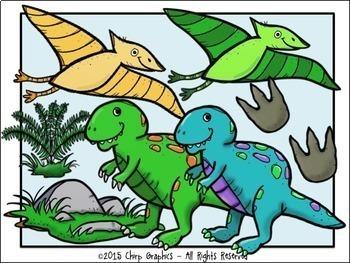 Dinosaur Clip Art Set - Chirp Graphics