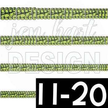 Dinosaur Clip Art- Tally Marks 1-20 {jen hart Clip Art}