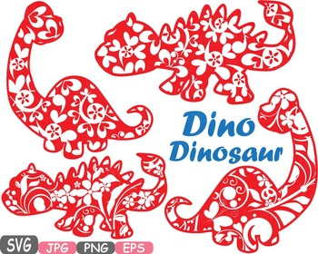 Dinosaur Clip Art prehistoric invitations party fossil animals baby dino -459S