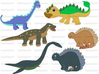 Dinosaur Clip Art prehistoric volcano invitations party fossil animals -039-