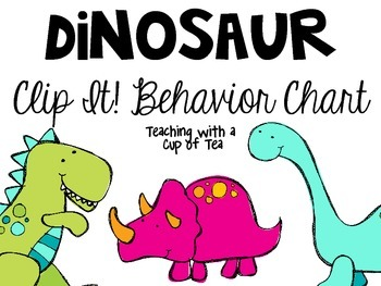 Dinosaur Clip It! Behavior Chart