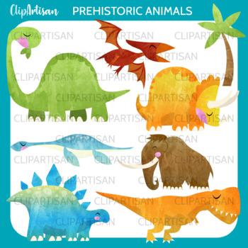 Dinosaur Clip Art, Prehistoric Animals