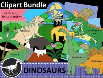 Dinosaur Clipart Bundle