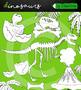 Dinosaur Clipart Bundle +black white outline