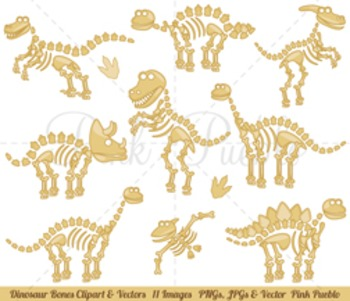 Dinosaur Clipart, Dinosaur Clip Art, Dinosaur Bones Clipar
