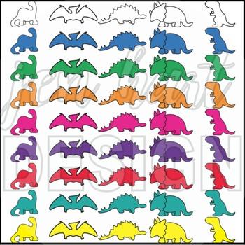Dinosaur Outlines Clipart