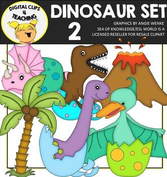 Dinosaur Clipart Set 2 {Digital Clips 4 Teaching}