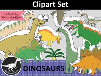 Dinosaur Clipart Set