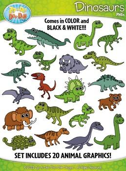 Dinosaur Clipart {Zip-A-Dee-Doo-Dah Designs}