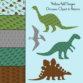 Dinosaur Clipart and Patterns