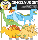 Dinosaur Clipart {Digital Clips 4 Teaching}