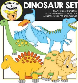 Dinosaur Clipart {Digital Clips 4 Teaching}
