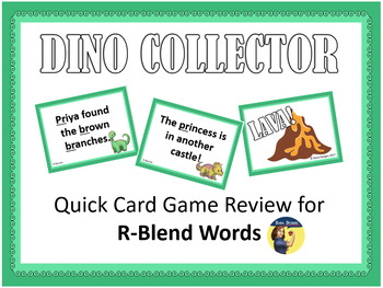 Dinosaur Collector - R-Blend Words Card Game