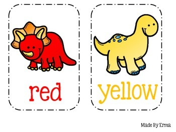 Dinosaur Color Cards