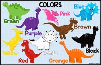 "Dinosaur Color Chart 11"" x 17"""