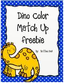 Dinosaur Color Match Up Freebie