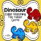 Dinosaur Color Matching File Folder Game