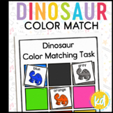 Dinosaur Color Matching Folder Game for Early Childhood Special Education