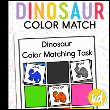 Dinosaur Color Matching Folder Game for Early Childhood Sp