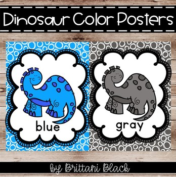 Dinosaur Color Posters