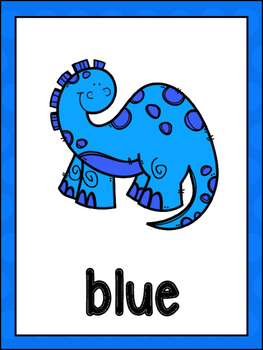 Dinosaur Color Posters And Cards