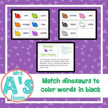 Dinosaur Color Puzzles Busy Box