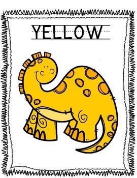 Dinosaur Color Sorting Mats