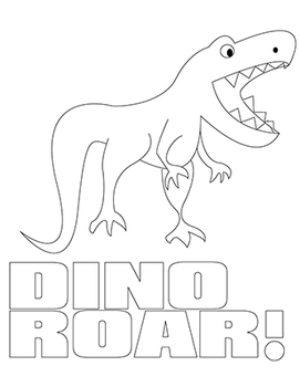 Dinosaur Color and Cut activities