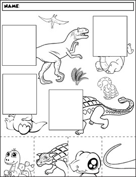 dinosaur color and match group 2 by prekautism tpt. Black Bedroom Furniture Sets. Home Design Ideas