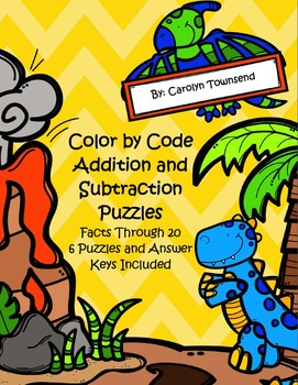 Dinosaur ~ Color by Code ~ Addition and Subtraction