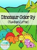 Dinosaur Color by Number/Letter (PreK Skills)