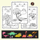 Dinosaur Color by Sight Word Pages {Dolch Sight Words}