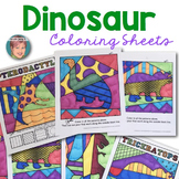 Dinosaur Interactive Coloring Sheets