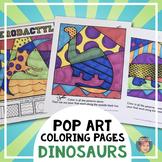 Dinosaur Interactive Coloring Sheets