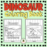 Dinosaur Coloring Pages + Writing Pages