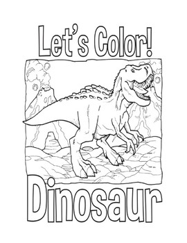 Dinosaur Coloring Books for Kids by KidsSchoolResources | TpT