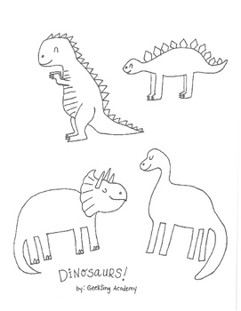 Dinosaur Coloring Page Teaching Resources | Teachers Pay Teachers