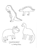 Dinosaur Coloring Page!