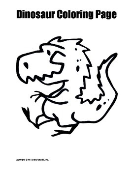 Dinosaur Coloring Page Bundle
