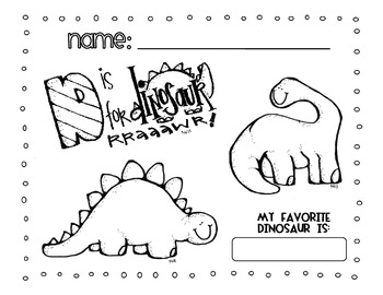 Dinosaur Coloring Page [FREEBIE!]