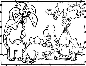 Dinosaur Coloring Pages By Preschoolers And Sunshine Teachers Pay