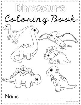 Dinosaur Coloring Pages By The Kinder Kids Teachers Pay Teachers