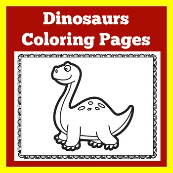 Preschool Dinosaurs Dinosaur Coloring Book By Green Apple Lessons