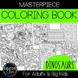 Dinosaur Coloring Pages: Masterpieces {Made by Creative Clips}