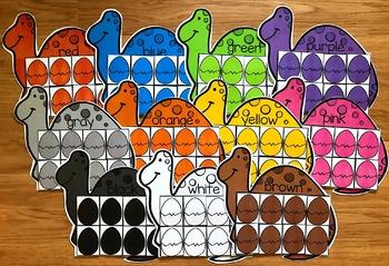 Dinosaur Colors Sorting Mats