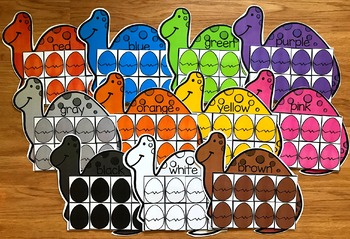 Dinosaur Colors Sorting Mats
