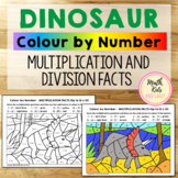 Dinosaur Colour-by-Number - Multiplication & Division Fact