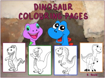 Dinosaur Colouring Pages - 12 pages FREEBIE