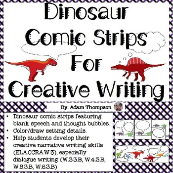 Comic Strips for Creative Writing - Dinosaur